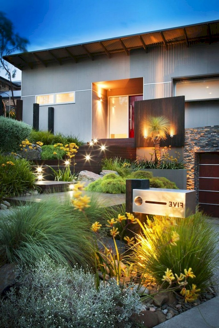 23+ Cool Modern Front Yard Landscaping Ideas - Page 14 of 24