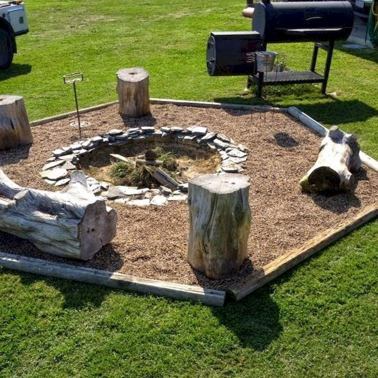 33+ Simple DIY Fire Pit Ideas for Backyard Landscaping ... on Simple Patio Designs With Fire Pit id=96126