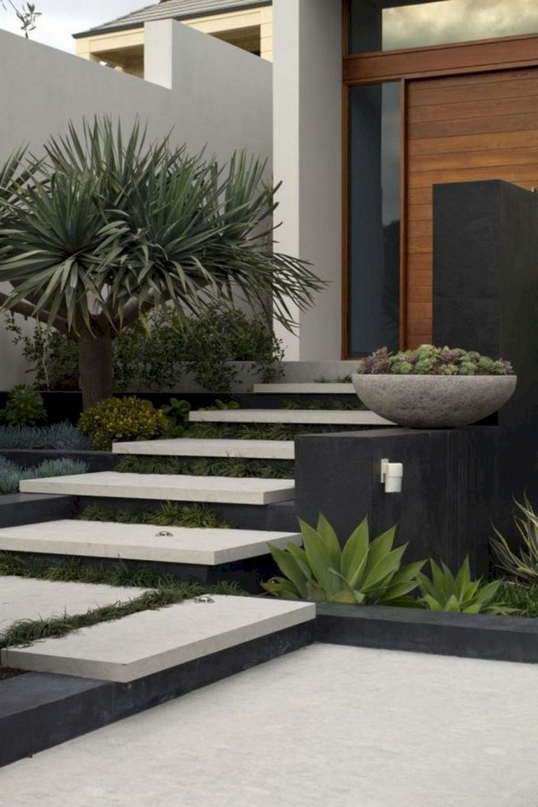 23+ Cool Modern Front Yard Landscaping Ideas