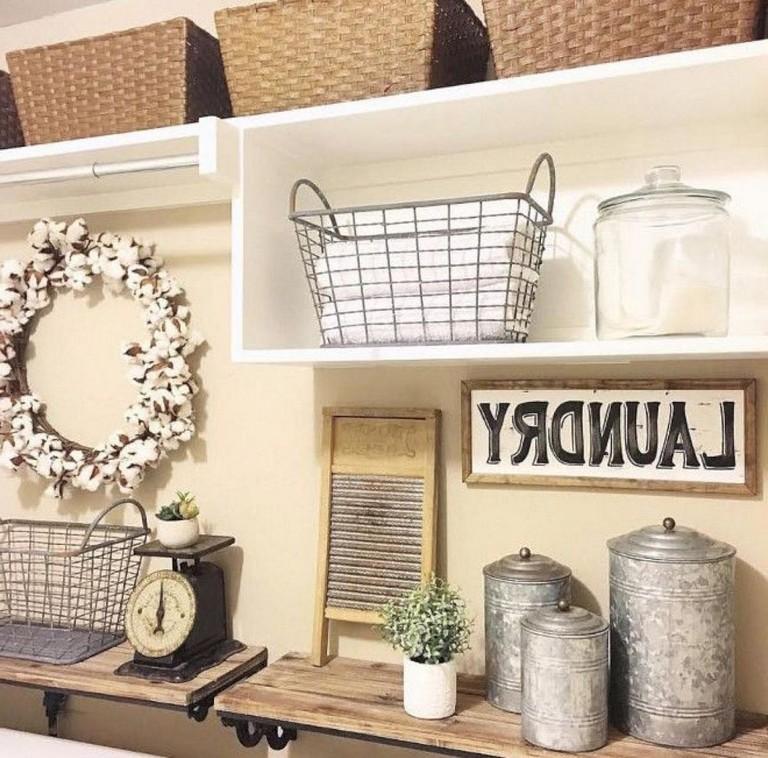 25 Nice Modern Farmhouse Laundry Room Design Ideas